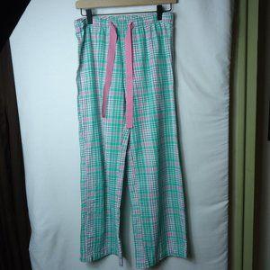 Old Navy Pink & Green Plaid Sleep Pants XS